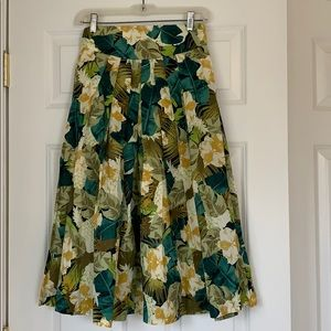 ModCloth Emily and Fin floral midi skirt XS BNWT